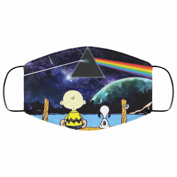 Snoopy And Charlie Brown Pink Floyd Cloth Face Mask