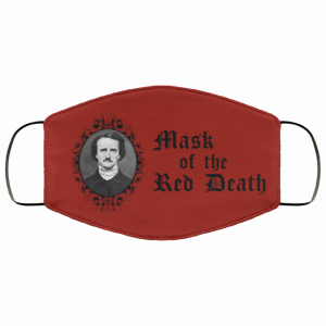 Edgar Allan Poe mask of the red death face mask