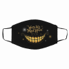 We're All Mad Here Alice in Wonderland Cheshire Cat Face Mask